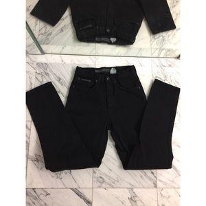 DKNY Black Jeans straight leg size 2
